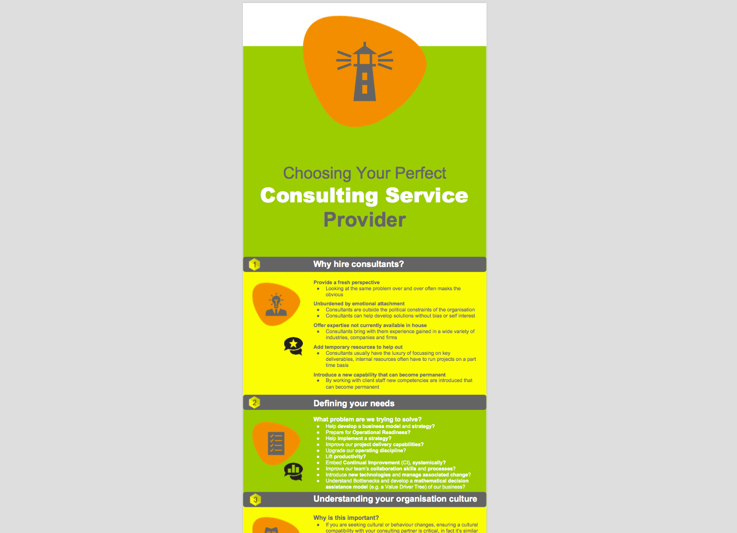 Infographic - Choosing Your Perfect Consulting Service Provider
